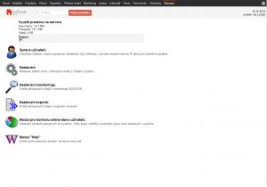 Nástroje pro správu uživatelů, webu, exportů atp. na jednom místě